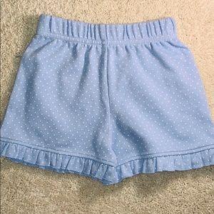 Interlock Knit Ruffle Shorts in Blue by Luigi Kids